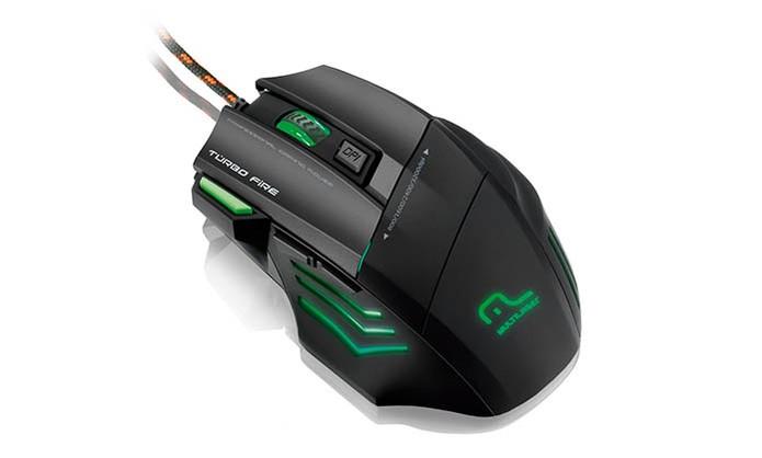 Mouse Gamer Multilaser Warrior MO207 oferece 3.200 DPI e sete botões (Foto: Divulgação/Multilaser)