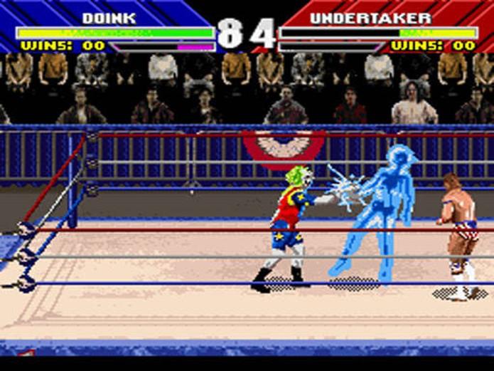 Boom shakalaka! WWF Wrestlemania: The Arcade Game é um jogo de luta nada convencional! (Foto: Reprodução)