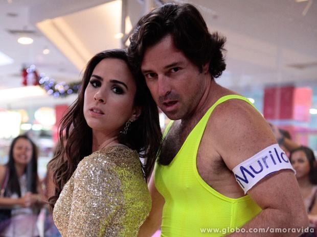 Valdirene e Murilo: uma dupla da pesada! (Foto: Pedro Curi/TV Globo)
