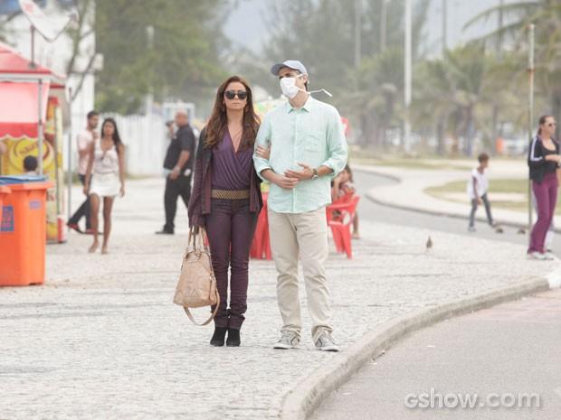 Reynaldo Gianecchini e Giovana Antonelli  (Foto: Em Família / TV Globo)
