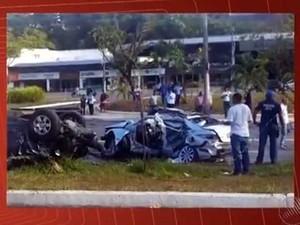 Acidente na Avenida ACM, em Salvador, em novembro do ano passado (Foto: Reprodução/TV Bahia)