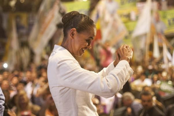 Marina Silva, em campanha eleitoral (Foto: Vagner Campos/ MSILVA Online)