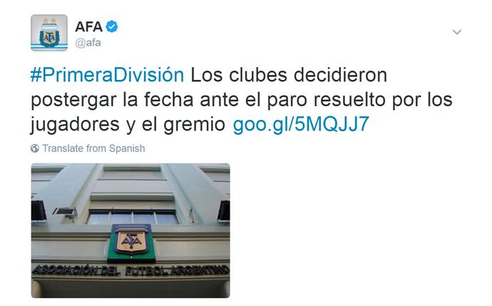 AFA decisão adiar rodada Campeonato Argentino (Foto: Reprodução/AFA)