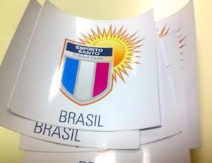 Adesivos do Espírito Santo de Anchieta (Foto: Sidney Magno Novo/Globoesporte.com)