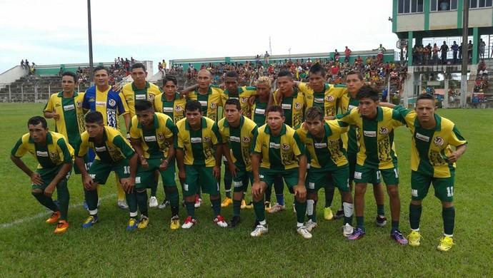 Tiradentes, campeão da primeira Copa União de Óbidos (Foto: Divulgação/ Xavier Araújo - Liga Desportiva Obidense)