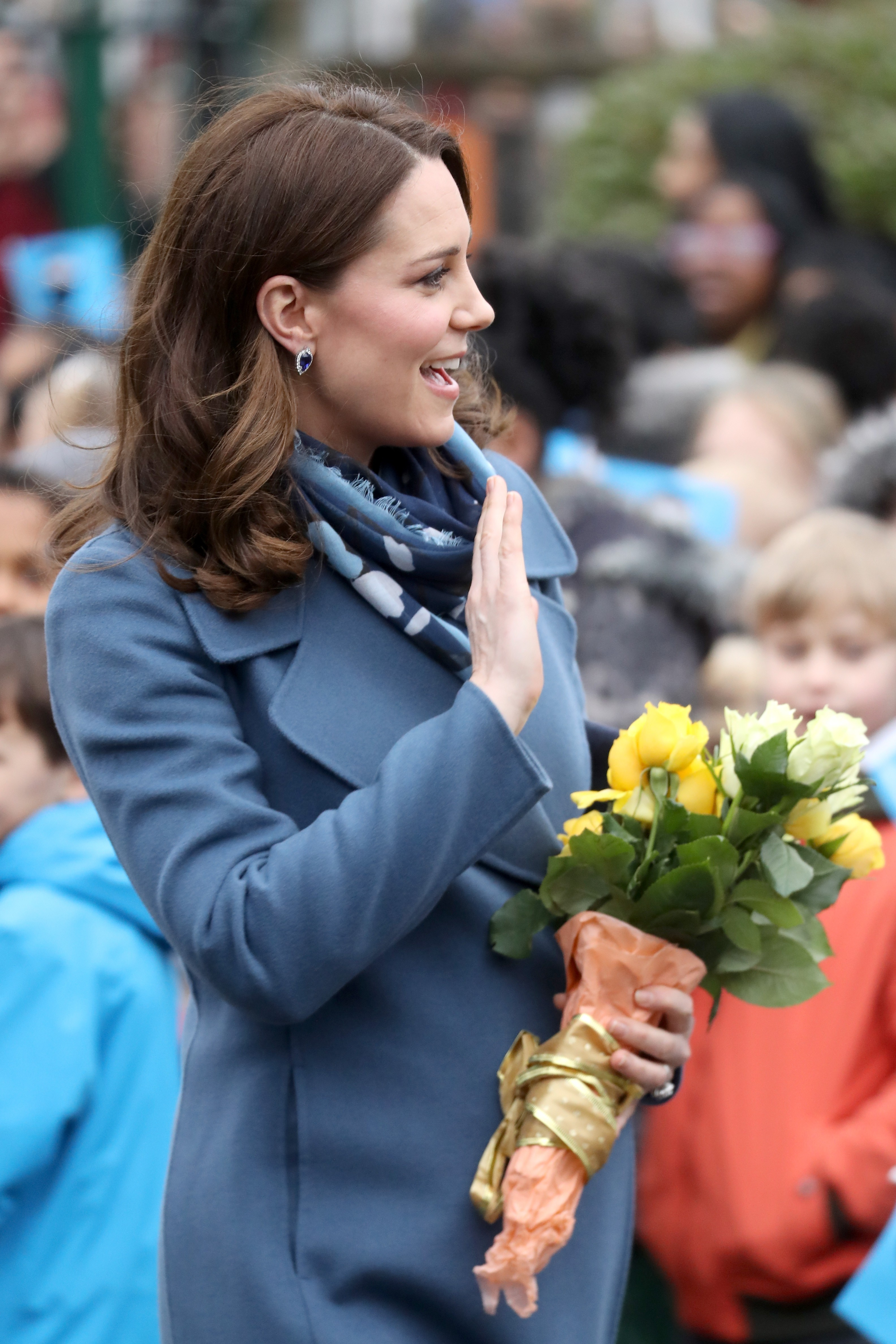 LONDON, ENGLAND - JANUARY 23:  Catherine, Duchess of Cambridge visits Roe Green Junior School on January 23, 2018 in London, England to launch a programme that supports children's mental health at school.  (Photo by Chris Jackson/Getty Images) (Foto: Getty Images)