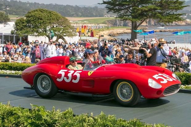 Ferrari 315 S Scaglietti Spyder de 1957 foi a segunda colocada no Concurso de Elegância (Foto: Divulgação)
