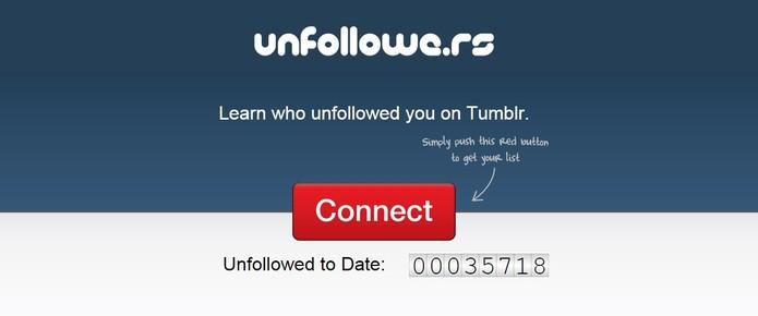 Unfollowe.rs mostra quem te deu unfollow no Tumblr (Foto: Reprodução/Unfollowe.rs)