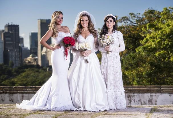 Ingrid Guimarães, Tatá Werneck e Suzana Pires: noivas em guerra! (Foto: Divulgação)