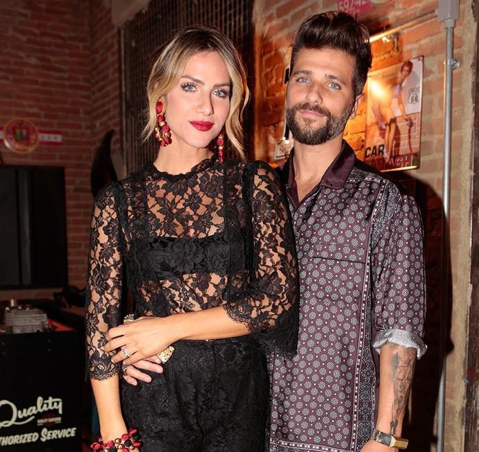 Bruno Gagliasso foi acompanhado da mulher, Giovanna Ewbank (Foto: Felipe Monteiro/Gshow)