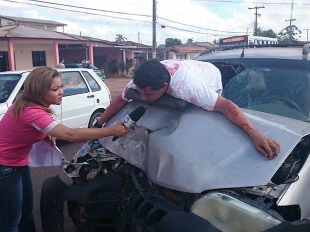 Entrevista com falsa vítima de trânsito no Amapá vira meme na web