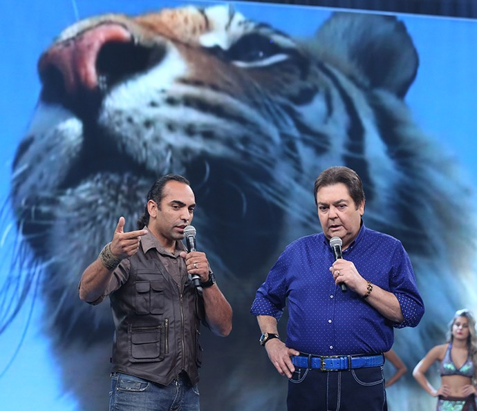 Cristian Dimitrius mostrou como é a vida do homem-tigre na África (Foto: Carol Caminha/Gshow)