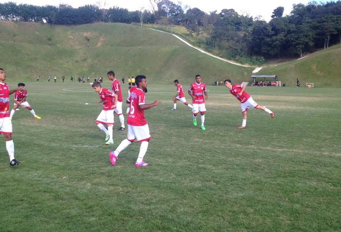 Jogadores do Guarani-MG na Cidade do Galo, em Vespasiano  (Foto: Guarani-MG/Divulgação)