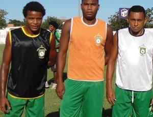 Bruno Bacabal, Gilson e Ivan apresentados no Sabiá (Foto: Divulgação / Sabiá FC (MA))