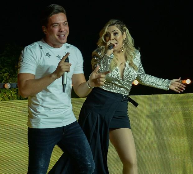 Wesley Safadão e Naiara Azevedo (Foto: Francisco Cepeda/AgNews)