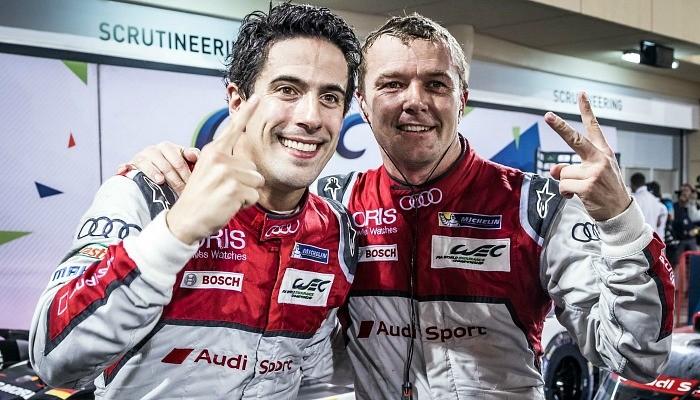 Lucas di Grassi comemora a vitória nas 6 Horas do Bahrein