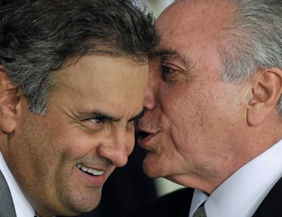 Michel Temer e Aécio Neves (Foto: REUTERS/Ueslei Marcelino)