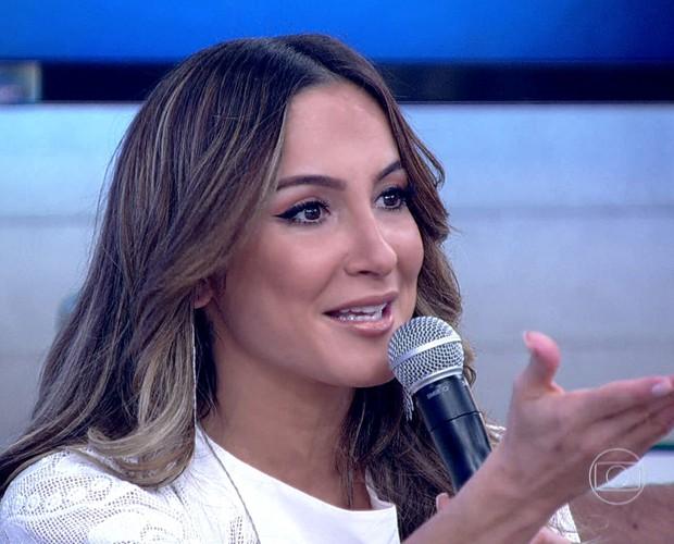 Cláudia Leitte fez revelações sobre despedida de solteiro e casamento (Foto: TV Globo)