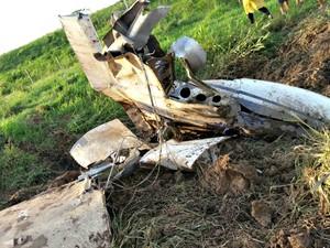 Avião que caiu no interior do Acre pode ter sofrido uma pane, segundo o empresário  (Foto: Divulgação/PM)