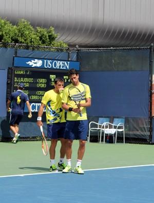 Marcelo Melo e Dodig no US Open (Foto: Bernardo Eyng)