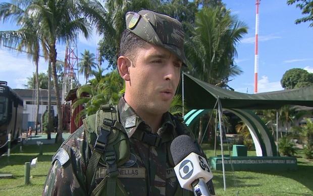 Tenente Dornellas participou do resgate (Foto: Rondônia TV)