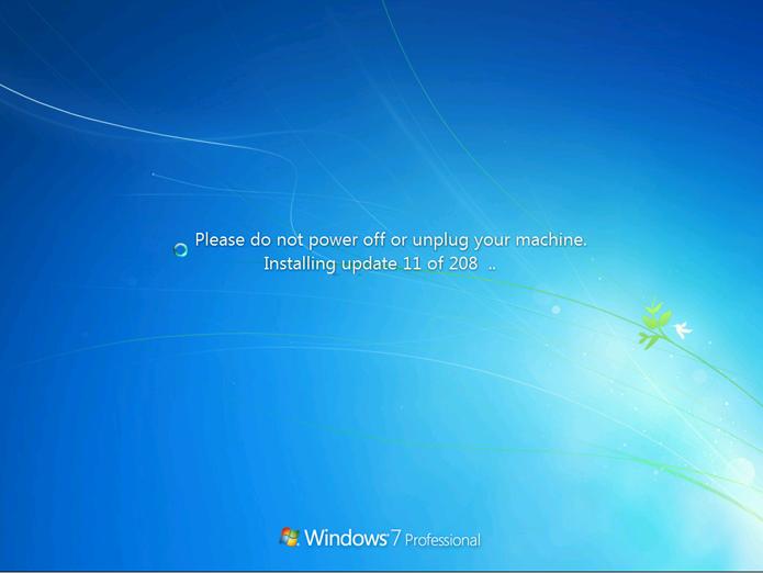 Pacote da Microsoft contém atualizações do Windows 7 para evitar downloads muito longos (Foto: Reprodução/Microsoft)
