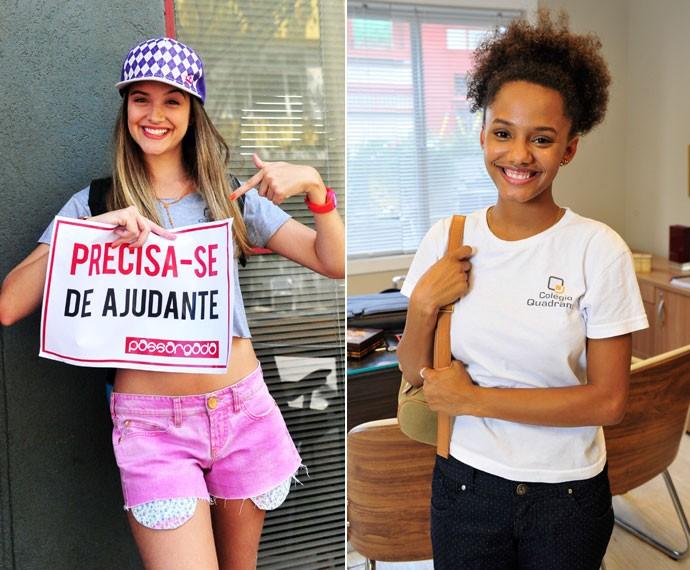Em Malhação, Juliana era Fatinha e Jéssica interpretava Rita (Foto: João Miguel Júnior e Alex Carvalho/Globo)
