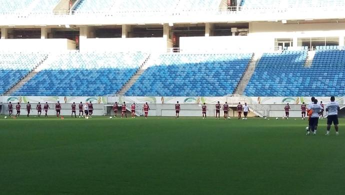 América-RN - treino - Arena das Dunas - Francisco Diá (Foto: Jocaff Souza/GloboEsporte.com)