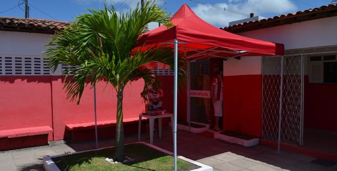 Inauguração da loja oficial do Auto Esporte, no Mangabeirão (Foto: Amauri Aquino / GloboEsporte.com/pb)