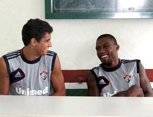 Rhayner reapresentação Fluminense (Foto: Edgar Maciel de Sá / Globoesporte.com)