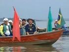 Grupo que desceu rio chega à represa de Jurumirim em Avaré