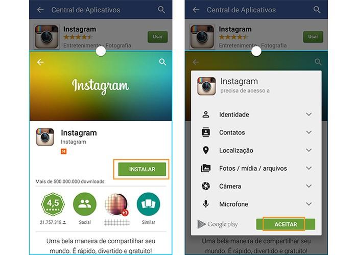 Comece o download do Instagram no Android (Foto: Reprodução/Barbara Mannara)