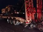 Motociclista morre após bater em carreta parada em rodovia em MT