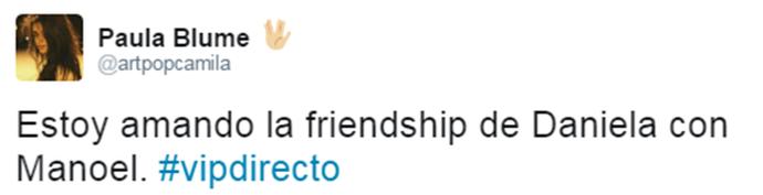 Internauta espanhala gosta da amizade de Daniela e Manoel (Foto: Reprodução Internet)