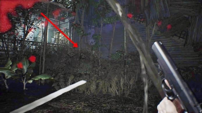 Imagem clareada traz localização do enigma secreto de Resident Evil 7 (Foto: Reprodução/Felipe Demartini)