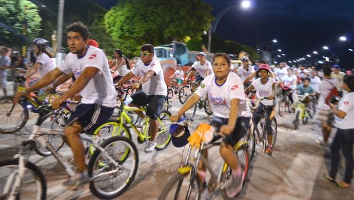 Passeio Ciclístico Sesi-Senai Santarém (Foto: Gustavo Campos/GloboEsporte.com)