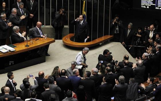 Eleição na Câmara candidato Rodrigo Maia (Foto: Givaldo Barbosa/Agência O Globo)