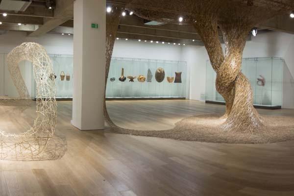 Espaço de exposições no segundo andar da Japan House tem mostra sobre o bambu (Foto: Divulgação)