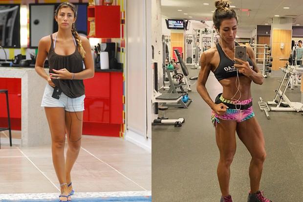 Jaque Khury antes e depois (Foto: Kiko Cabral - Globo / Instagram )