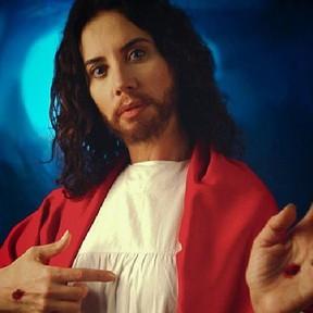Cláudia Alencar como Jesus Cristo (Foto: Reprodução)