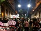 Manifestantes entram em confronto com BM em protesto em Porto Alegre