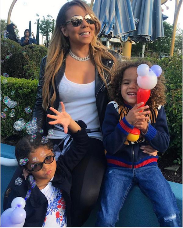 Mariah Carey com os filhos (Foto: Instagram)