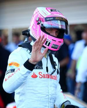 jenson button GP da Rússia - 11/10/2014 (Foto: Getty Images)