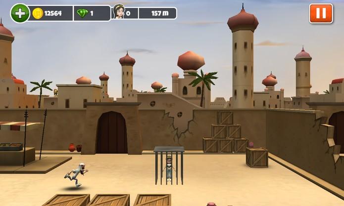 Mussoumano Game é um jogo onde você deve se arriscar para salvar suas latifas (Foto: Reprodução/Windows Phone Store)