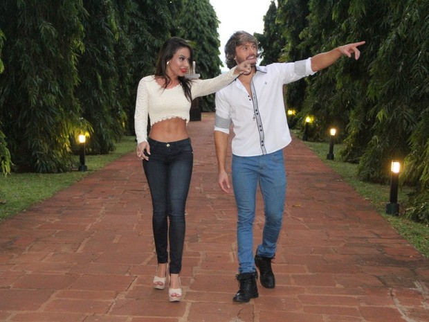 Patrícia Jordane e Franklin David e Patrícia Jordane em Sertanópolis, no Paraná (Foto: Rodrigo dos Anjos/ Ag. News)