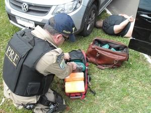 Homem que causou morte de policial federal carregava 40 quilos de cocaína (Foto: Marcelo S.Baptista/PRF)