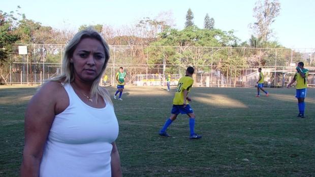 Janaína Alexandrino durante treino do São José (Foto: Filipe Rodrigues / Globoesporte.com)