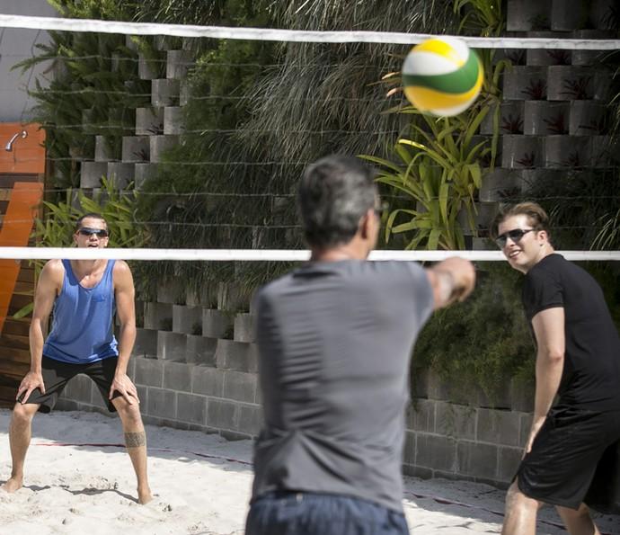 Ricardo leva sério o jogo (Foto: Raphael Dias/Gshow)