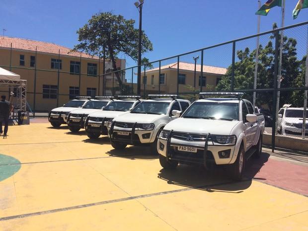Ceará recebe dez carros do Ministério da Justiça por envio de militares à Olimpíada (Foto: Wânyffer Monteiro/TV Verdes Mares)