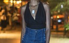 [Destaques] Looks do Rio - Saia jeans cintura alta